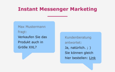 Messenger Marketing – Eine Chance, die Sie nutzen sollten