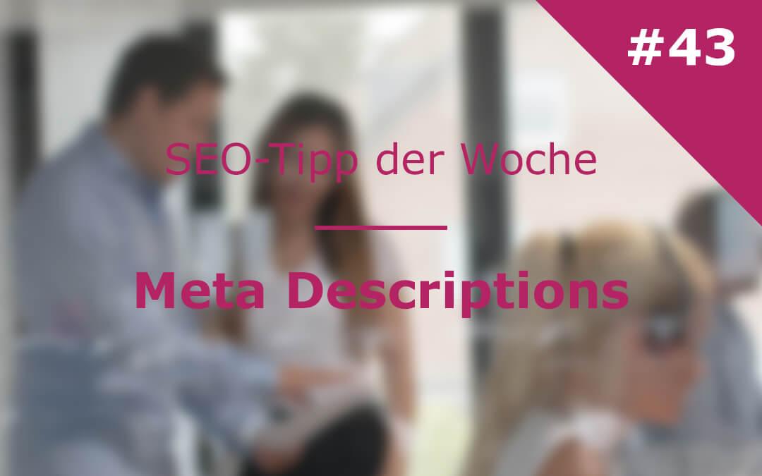 SEO Tipp der Woche – Meta Description