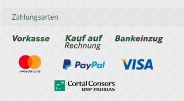 Beispiel verschiedene Zahlungsarten